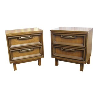 Mid Century Basset Nightstands-A Pair For Sale