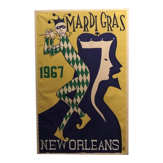 "Vintage ""Rex 1967"" Mardi Gras Silkscreen"
