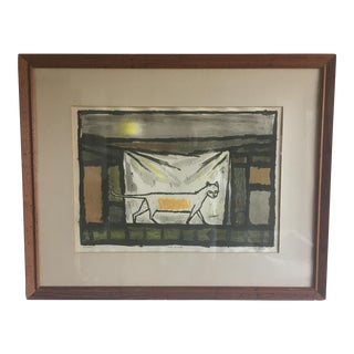 "Max Kahn Lithograph Titled ""Cat Walk"", 1949"