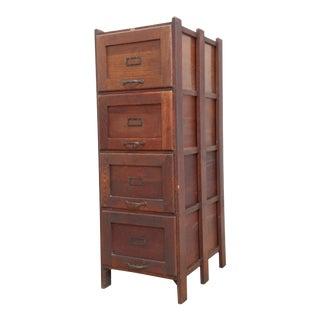 Antique Weis Legal Size Filing Cabinet- Quarter-Sawn Mission Oak For Sale