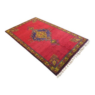 Hand-Knotted Turkish Rug. Masterpiece Antique Area Rug - 6′6″ × 10′11″ For Sale