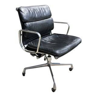 Vintage Mid-Century Charles Eames for Herman Miller Soft Pad Executive Office Chair For Sale
