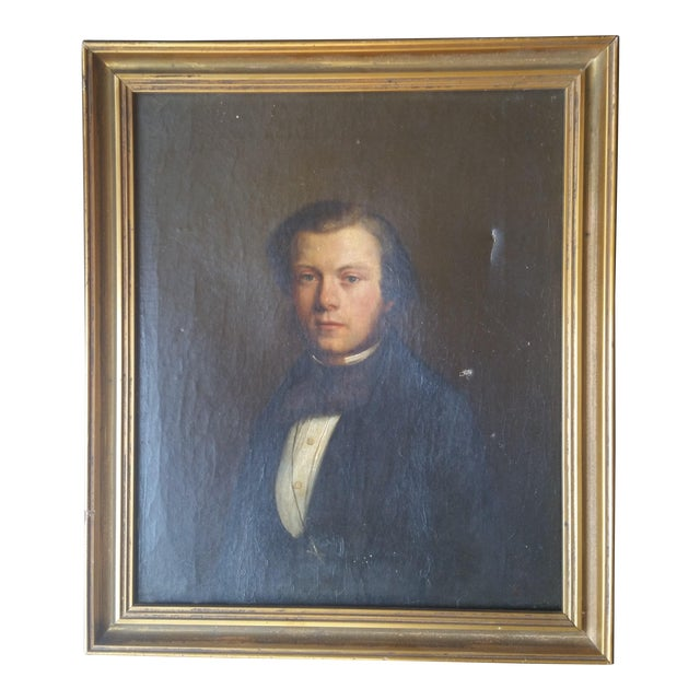 19th Century Portrait of a Man - Image 1 of 7