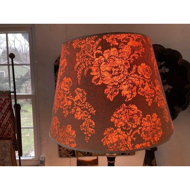 Brunschwig & Fils Brunchwig & Fils Floral Print Fabric Lampshade For Sale - Image 4 of 5