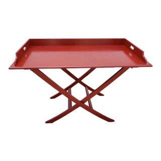 Oscar De La Renta Boho Chic Red Bar Table For Sale