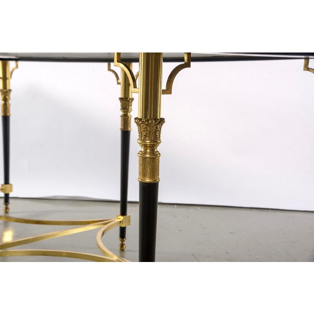Italian Directoire Style Table With Black Marble Top and Brass Base For Sale - Image 12 of 13