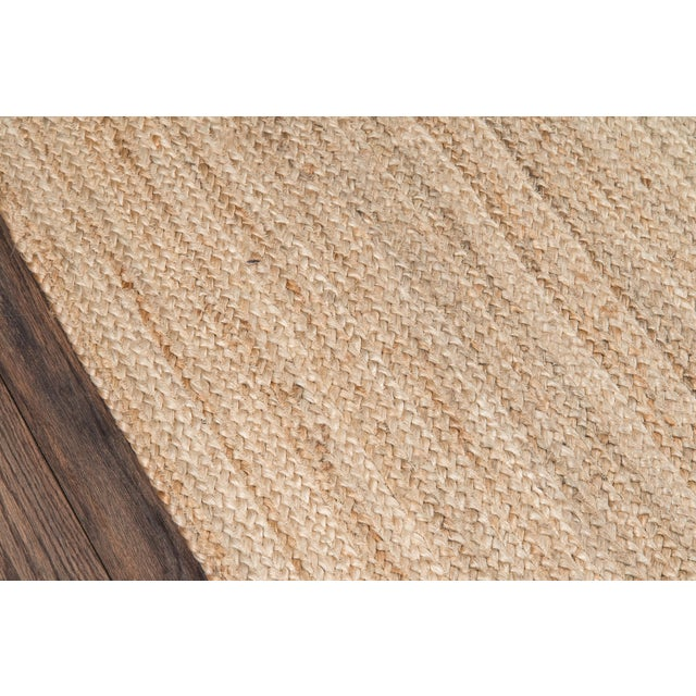 """Modern Erin Gates by Momeni Westshore Waltham Brown Natural Jute Area Rug - 3'6"""" X 5'6"""" For Sale - Image 3 of 7"""