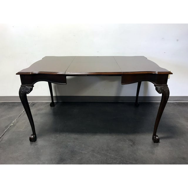Brown Drexel Heritage Heirlooms Chippendale Mahogany Ball Claw Card Table For Sale - Image 8 of 11