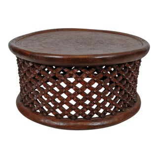 Vintage Bamileke Stool Table For Sale