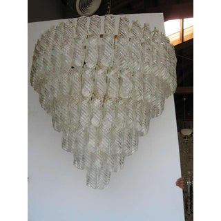 Fantastic Venini Spiral Glass Chandelier Preview