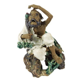 20th. Century Chinese Shiwan Figure, the Mad Monk Ji Gong, Signed/Hallmarked For Sale