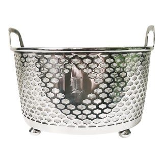Antique Tiffany & Co Sterling Silver and Glass Ice Bucket - L Monogram For Sale