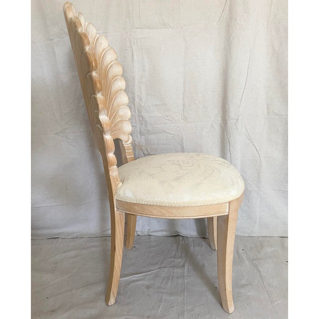 Late 20th Century Vintage Carved Back Shell Chairs- Set of 6 For Sale - Image 5 of 13