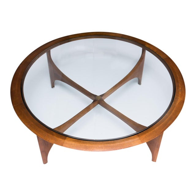 Lane Mid-Century Modern Round Coffee Table - Image 1 of 9