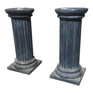 Henfeathers Doric Style Pedestal Bases - A Pair