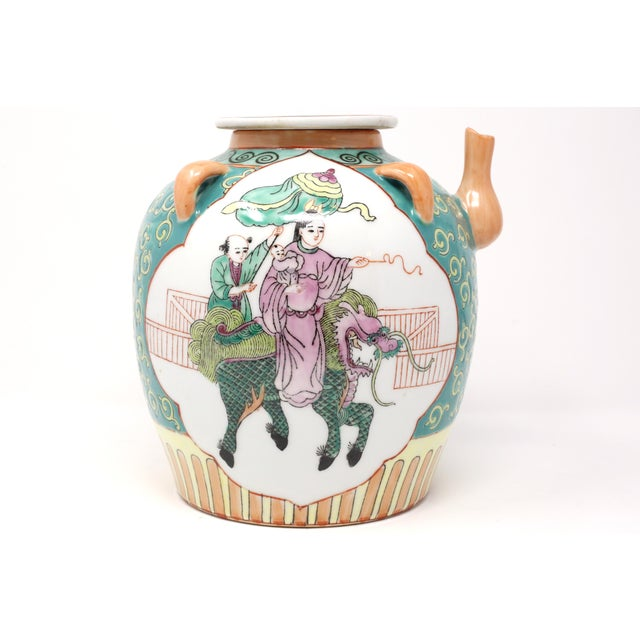 Vintage Chinese Decorative Lidded Water Jug For Sale - Image 13 of 13