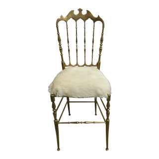 Early 19th Century Giuseppe Gaetano Descalzi Italian Brass Chair