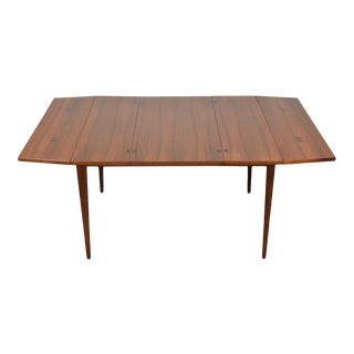 Walnut and Rosewood Drop Leaf Dining Table by Kipp Stewart For Sale