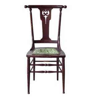 Early 19th Century Antique Victorian Red Lacquer Side Chair For Sale