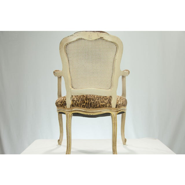 Louis XVI Fauteuil Leopard Print Chairs - A Pair - Image 4 of 5