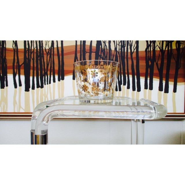 Gold Vintage Culver Gold Ice Bucket Mid Century Modern Hollywood Regency For Sale - Image 8 of 11