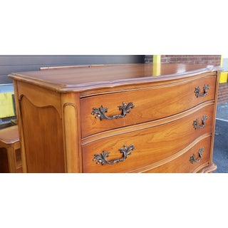 1960s French Provincial Fruitwood 6 Drawer Bedroom Chest of Drawers Preview