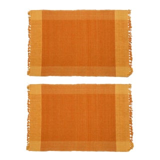 Two-Tone Placemats Ocher & Yellow - A Pair For Sale