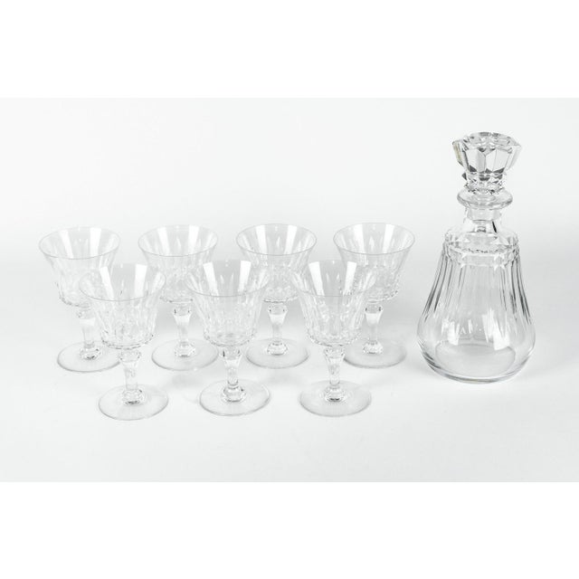 This listing is for a vintage baccarat crystal eight piece decanter set. Each piece is in excellent condition with maker's...