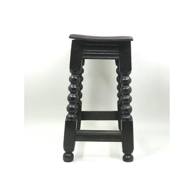 Traditional 19th Century Transitional Oak Stool/Side Table For Sale - Image 3 of 6