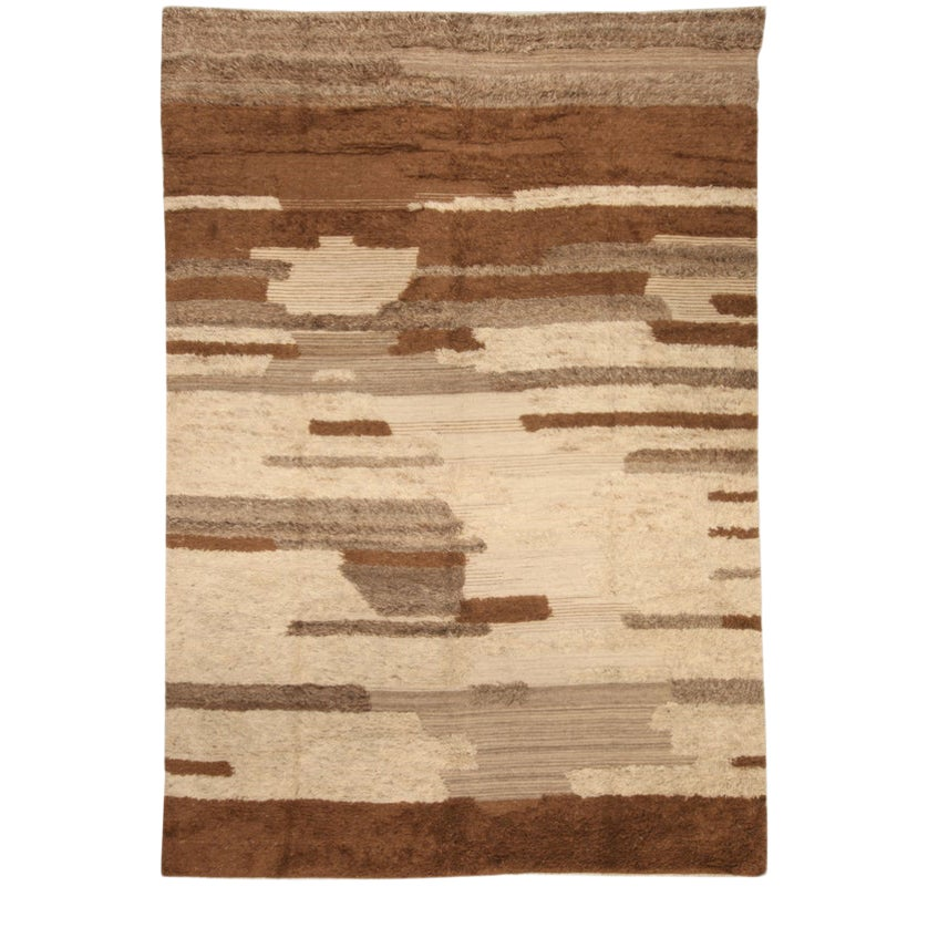 Brown And Beige Abstract Patterned Area Rug Chairish