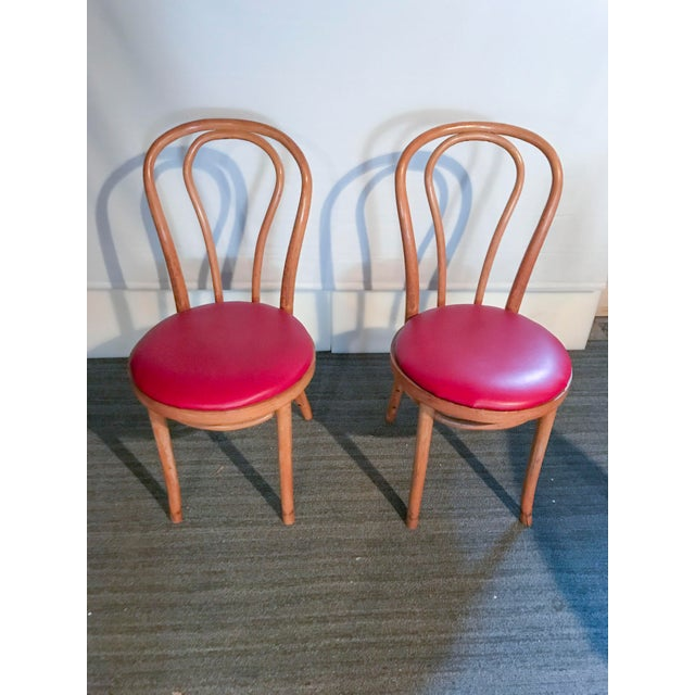 Thonet Style Bentwood Upholstered Chairs - a Pair - Image 3 of 9
