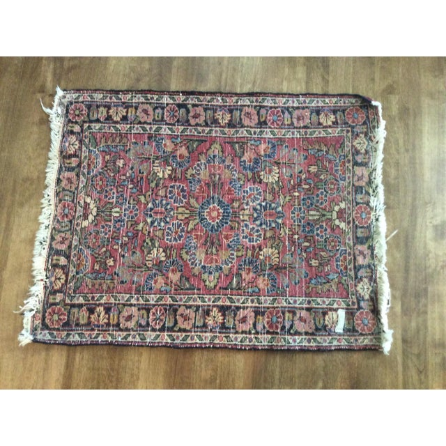 Boho Chic Antique Persian Purple/Red Wool Entry Size Area Rug - 2′ × 2′9″ For Sale - Image 3 of 5