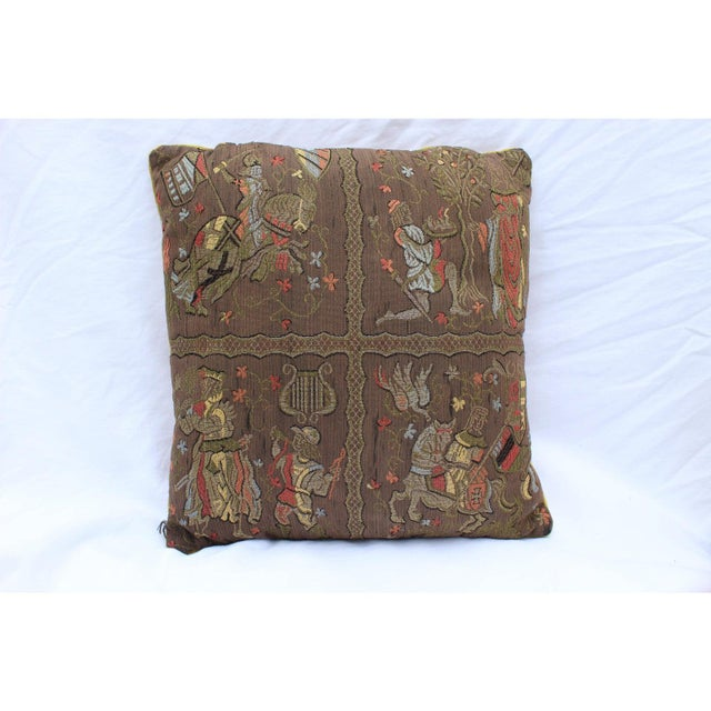 Brown 20th Century Renaissance Style Firm Support Pillow For Sale - Image 8 of 9