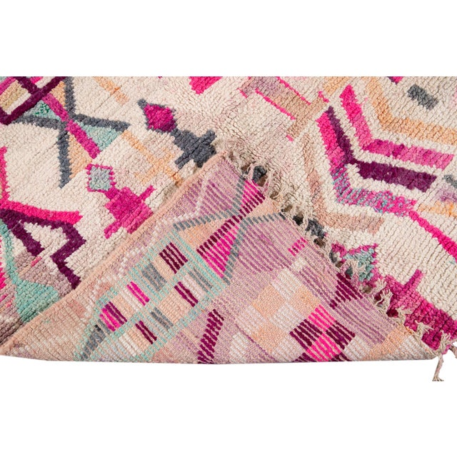 Vintage Azilal Moroccan Wool Rug For Sale - Image 4 of 12