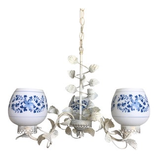 Mid Century Floral Chandelier For Sale