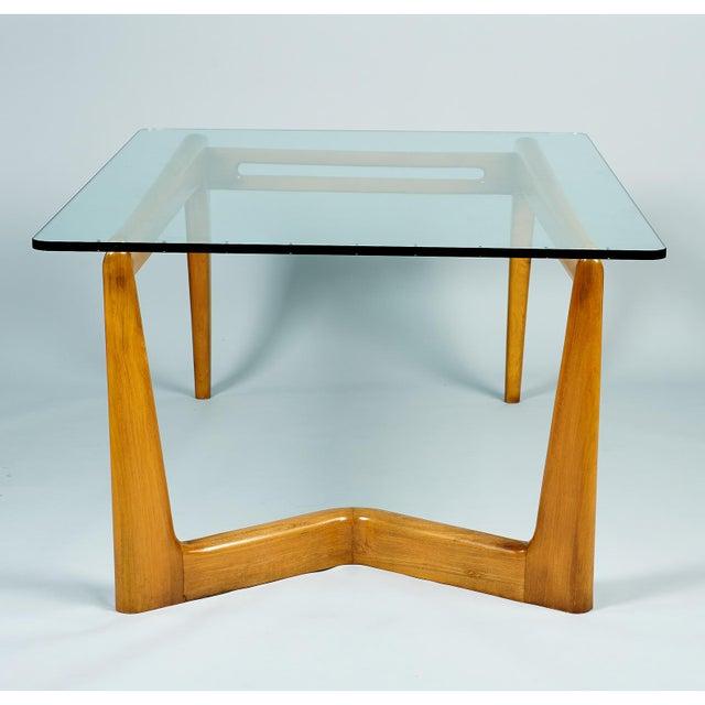 Wood 1950s Mid-Century Modern Pierluigi Giordani Biomorphic Dining Table For Sale - Image 7 of 13