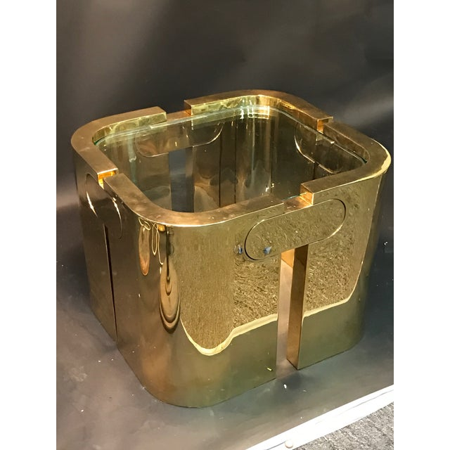 AMAZING GOLDEN BRONZE MODERNIST PUZZLE TABLE - Image 7 of 11