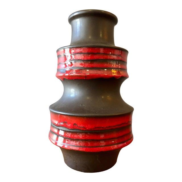 Vintage West German Pottery Vase by Scheurich Keramik For Sale