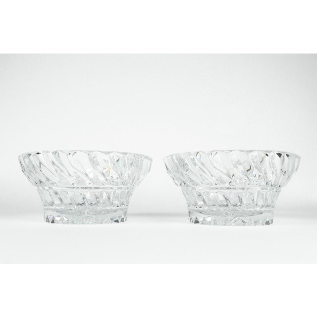 Vintage Pair Heavy Cut Crystal Bowl For Sale - Image 9 of 11