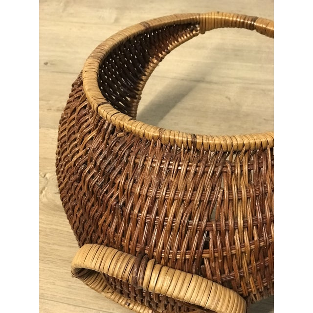 Nesting Gondola Woven Wicker Rattan Baskets - a Pair For Sale - Image 10 of 12
