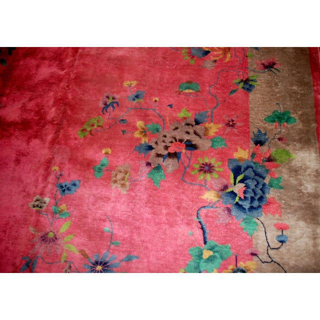 1920s Antique Art Deco Chinese Rug - 8′10″ × 11′8″ For Sale - Image 7 of 10