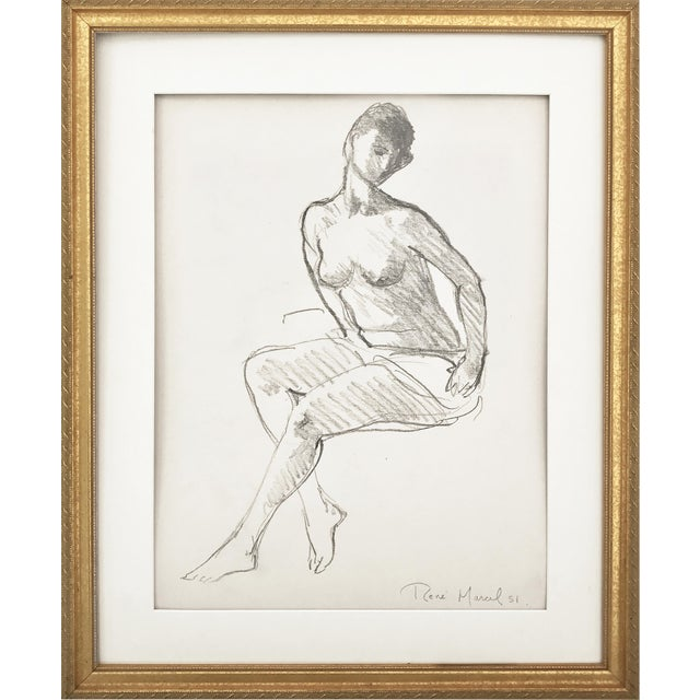 Vintage Figure Drawing by Rene Marcil - Image 1 of 6