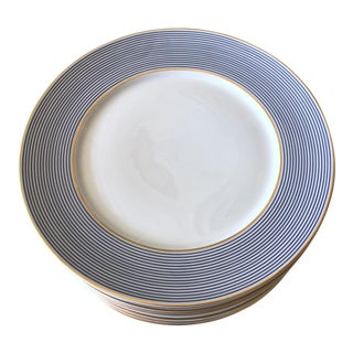 Limoges Crinoline Blue Dinner Plates - Set of 10