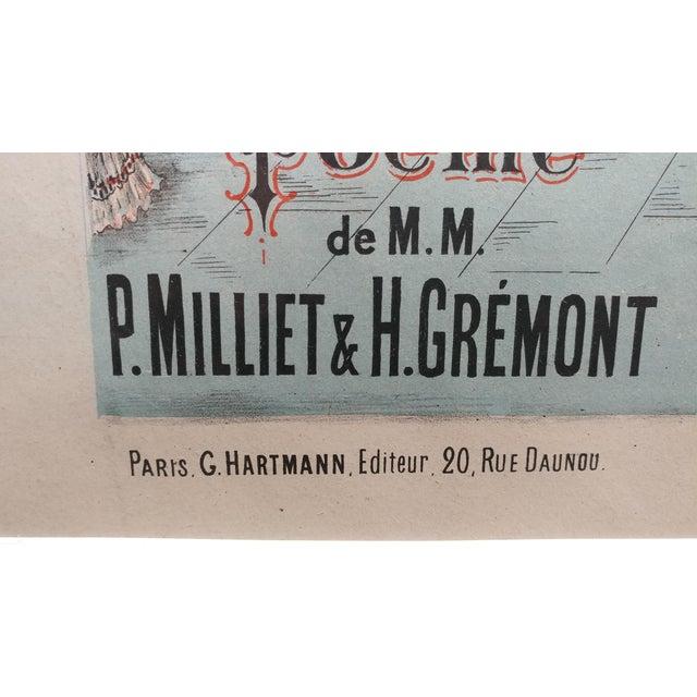 "1910s ""Herodiade Opera De Jules Massenet"" Vintage French Poster C. 1910s For Sale - Image 5 of 8"