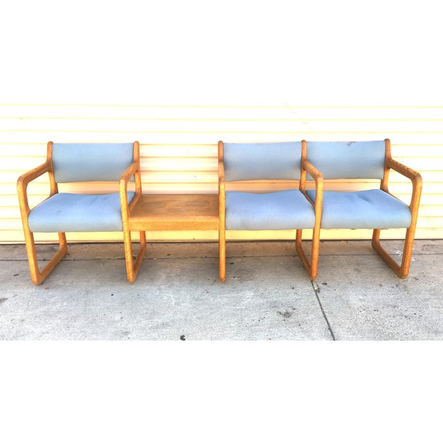Danish Modern Wooden Reception Banquette - Image 4 of 8
