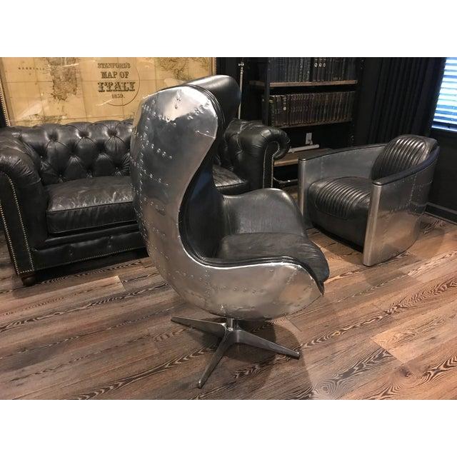 Restoration Hardware Copenhagen Aviator Egg Chair Chairish