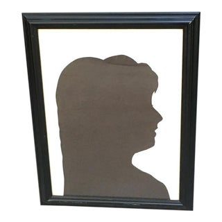 1960s Framed Silhouette For Sale