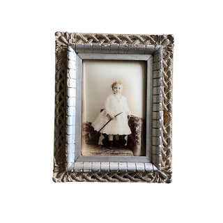 Late 19th Century Antique Framed Child Portrait Photograph For Sale