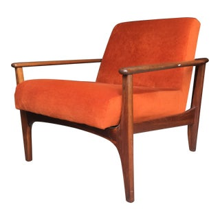 Adrian Pearsall Danish Modern Walnut Armchair for Craft Associates For Sale