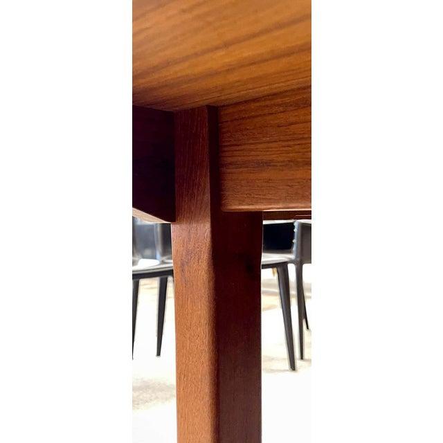 Brown George Nelson Herman Miller Dining Table, Mid-Century Modern Teak Wood For Sale - Image 8 of 13